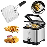 Unibos Deep Fat Fryer with Viewing Window, Easy Clean, 1.5 Litre, 900 W