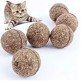 PiniceCore Juguetes para Mascotas Gato Hierba gatera Natural de Sabor mentolado Bola Saludable golosinas Divertidas Pelota para Gatos Gatito Trata comestibles