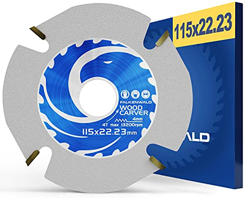 FALKENWALD Disco flexible para madera de 115 mm – Disco flexible de madera 115 – Disco flexible para madera – amoladora angular – Hoja de sierra de cadena para Flex 115 – amoladora angular de madera
