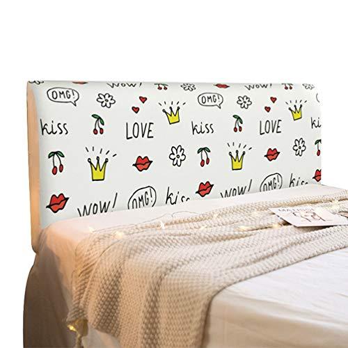 LaoZan Cubierta Antipolvo Cubierta De Cabecera De Dormitorio Cubierta De Polvo Elástica con Todo Incluido Cubierta De Protección De Cabecera (Estilo 25,(50-65)*220cm)