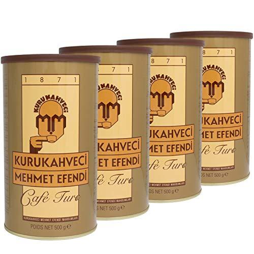 Kurukahveci Mehmet Efendi - Feiner türkischer Mokka Kaffee gemahlen im 4er Set á 500 g Packung
