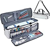 NICOGENA Carrying Case for Cricut Explore Air 2, Cricut Maker, Multi Large Front Pockets for Tools Accessories and Supplies, Lantern White