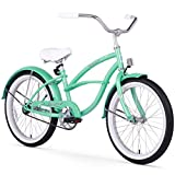 Firmstrong Urban Girl Single Speed Beach Cruiser Bicycle, 20-Inch, Mint Green