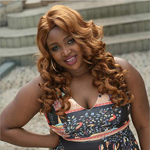 SEXYY Attrayant Cheveux longs bouclés ondulés de 28 pouces Femme Perruque afro Nature,Afro résistant à la chaleur Perruque pleine crépée Lin