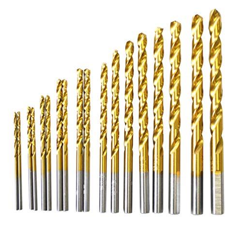 BOSTAL 19-teiliges Bohrer-Set, M35, Kobaltstahl, Spiralbohrer-Set, Länge 1/16 3/32 1/8 1/4 5/64 3/32 7/64 1/8 9/64 5/32 11/64 3/16 13/64 7/32 15/65 1/4 Bits, perfekt für Stahl und Edelstahl