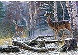 5D Painting - Cuadro de punto de cruz para decoración de pared, diseño de ciervo, 40 x 50 cm