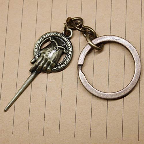 Hand van de koning sleutelhanger King's hand sleutelhanger sleutelhanger pinnen Game of Thrones accessoires Een lied van ijs en vuur mode-sieraden