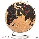 "SUCK UK Extra Large Original Desktop Cork Globe | Push PINS Included | Educational World MAP | Travel Accessories | Adventure & Memories Display | Extra Large | 12.5"" (Ø 32cm)"