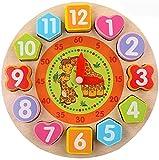 Afufu Juguete de Reloj de Madera Educativo, Juguetes Montessori Juegos...