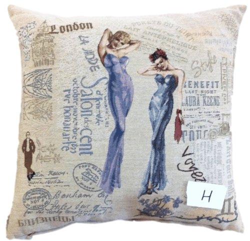 Tache Home Fashion 1PC-CC-1351 1 Piece Sisters Throw Pillow Cushion Cover, Multicolor, 18 x 18