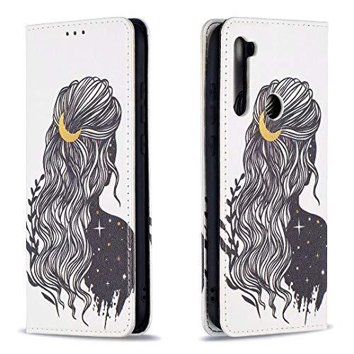 Miagon Brieftasche Hülle für Xiaomi Redmi Note 8T,Kreativ Gemalt Handytasche Case PU Leder Geldbörse mit Kartenfach Wallet Cover Klapphülle,Mädchen