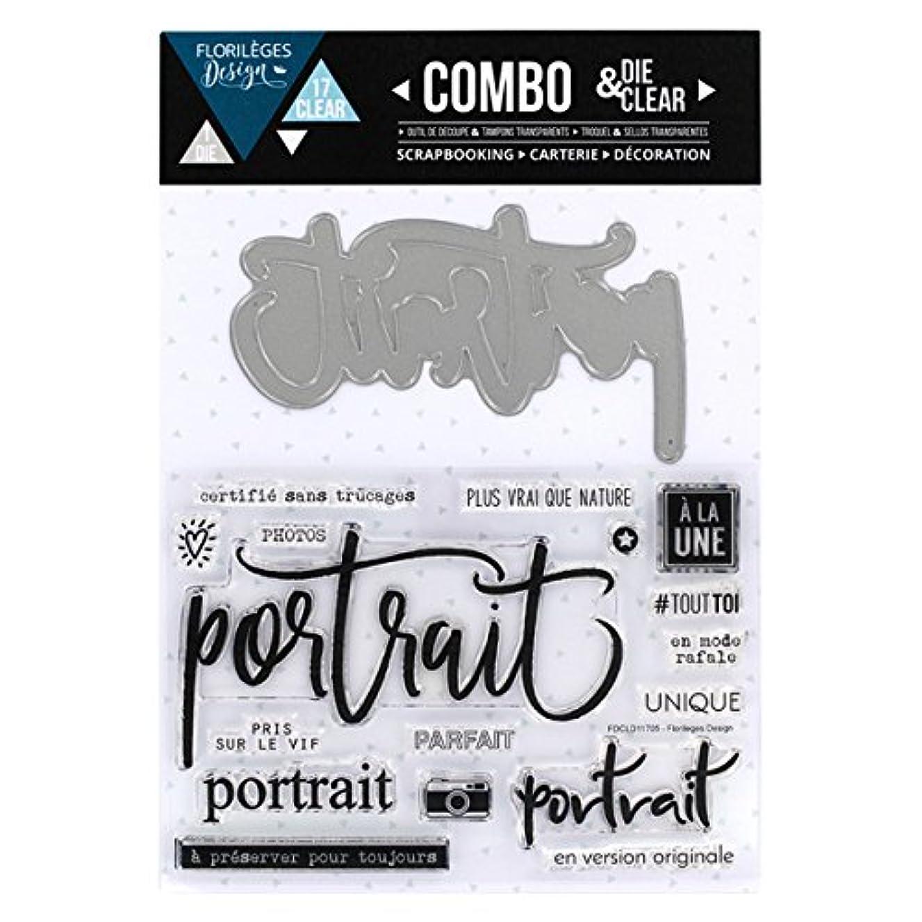Florilèges Clear Polymer Stamp fdcld11705?Portrait Sheet Metal/Design 25?x 15?x 0.5?cm