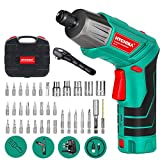 Electric Screwdriver, 6N·m Max Torque HYCHIKA Cordless Screwdriver 2000mAh 3.6V with 36 Accessories