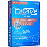 ExtenZe with Testosterone Boost 15ct Enhanced Stamina Energy and Strength Booster for Men Two Pills in One!