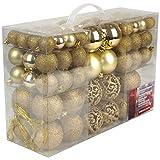 100 palline di Natale Chrsit albero di Natale con gancio Decorazione natalizia per interni ed esterni