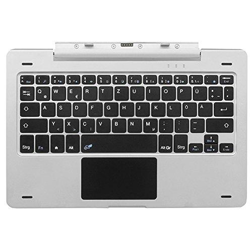 NINETEC Keyboard Tastatur für Platinum 10 G3 Aluminium Tablet PC Silber