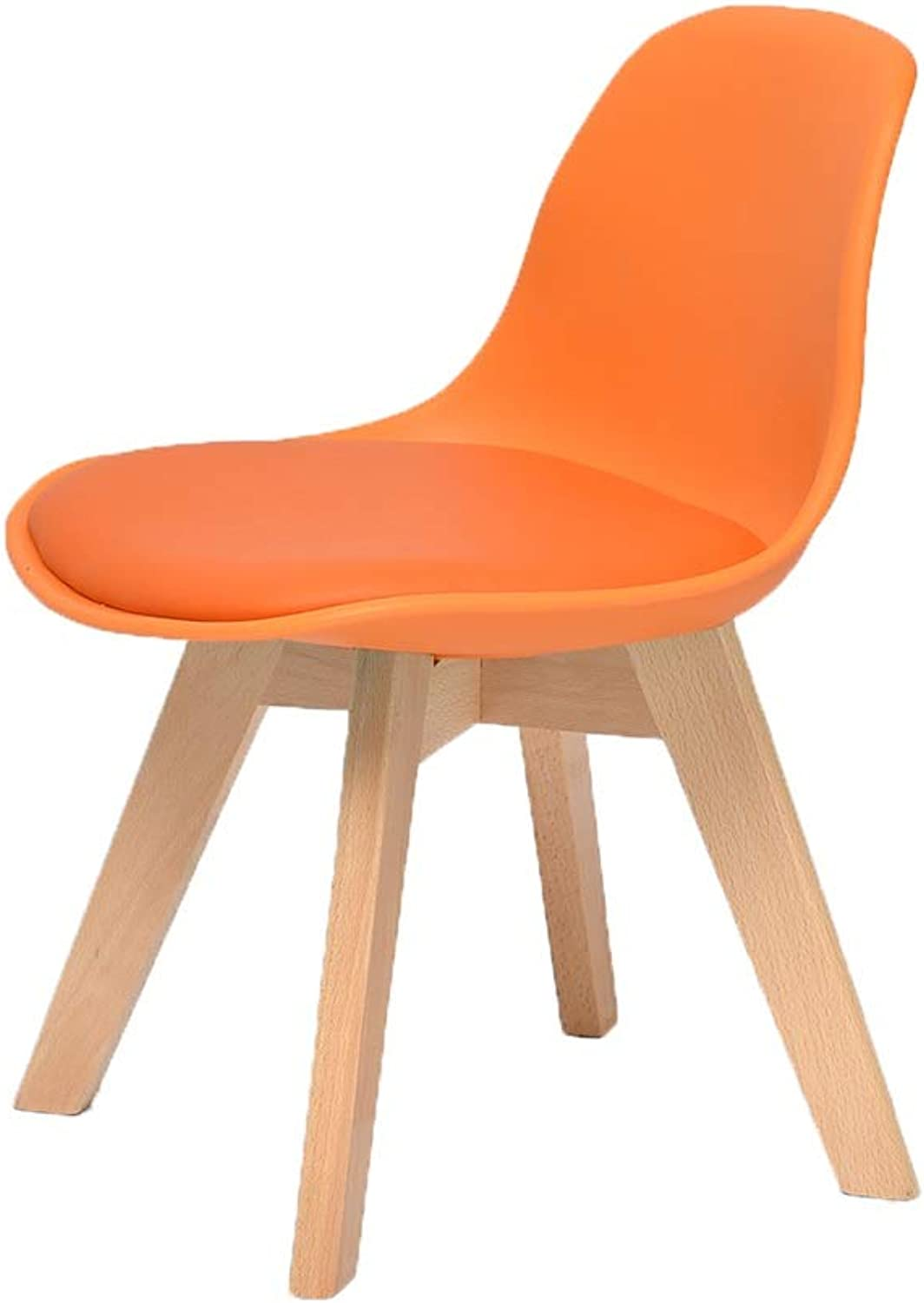 ZHAOYONGLI Footstools,Otools Solid Wood Chair Home Learning Desk Chair Backrest Small Stool (color   orange, Size   42  38  55cm)