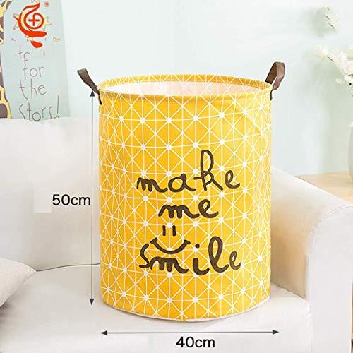Planken wasmand Badkamer vuile kleren Bucket, Fabric Mand Toy Storage Basket, Huishoudelijke Folding Wasmand (Kleur: Blauw), Kleur: Geel Pot Flower Rack (Kleur: Blauw) XIUYU (Color : Yellow)