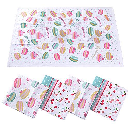 ランチョンマット 4枚入 綿100% 40*60cm 花柄 2種類 丸洗い 小学校 幼稚園 華やか おしゃれ (綿)