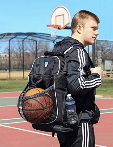 Hard Work Sports Basketball Backpack With Ball Compartment Spacious Shoe Storage