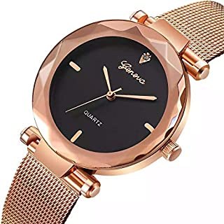 Geneva Dress Watch For Women Analog Stainless Steel Plated - 005R
