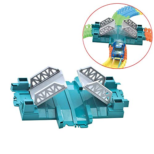 QUOXO Toy Track Accessory, Active Bridge for Magic Track, not Include Toy Car(Activity Bridge)