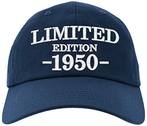 Cap 1950-70th Birthday Gifts, Limited Edition 1950 All Original Parts Baseball Hat 1950-EM-0002-Navy
