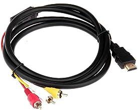 HDMI mâle vers 3 RCA vidéo audio Component AV câble adaptateur HDTV (1.5m)
