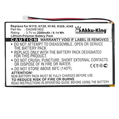 Akku-King Akku kompatibel mit iRiver DA2WB18D2 - Li-Polymer 2200mAh - für H110, H120, H140, H320, H340