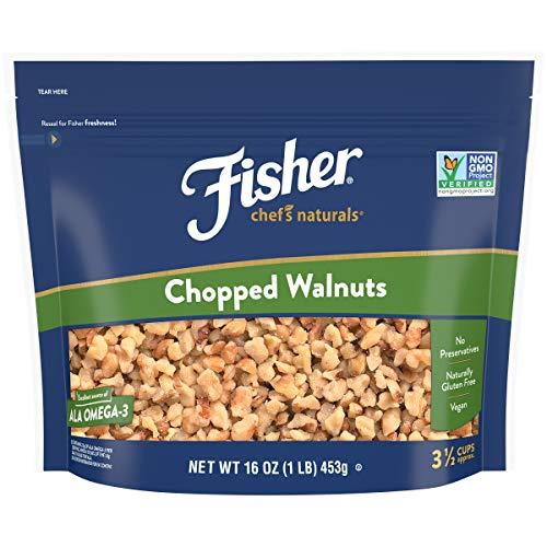 FISHER Chef's Naturals Chopped Walnuts, 16 oz, Naturally Gluten Free, No Preservatives, Non-GMO