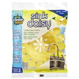 Compac's Sink Daisy, Scented Kitchen Sink Strainer - Infuses and Freshens Your Sink with Crisp, Clean, Exciting Scents, While Protecting Garbage Disposals & Drains, Lemon, Yellow, 2 Count (Pack of 3)