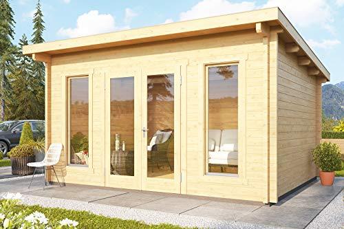 WOODFEELING Gartenhaus Stavanger, Fichtenholz 70 mm, naturbelassen, versch. Größen Stavanger 3, ca. 450x360x247 cm