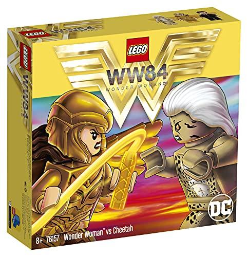 LEGO 76157 DCComicsSuperHeroes WonderWomanvsCheetah avec Ensemble de Construction, Jouets à Collectionner pour Enfants
