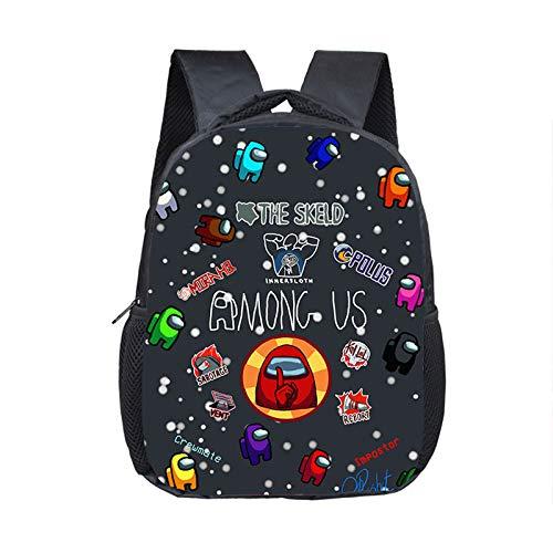 Among Us Breathable Backpack Student School Bag Waterproof Female Mens 3D Travel School Backpack Youth School Bag Leisure School Bag Game School Bag