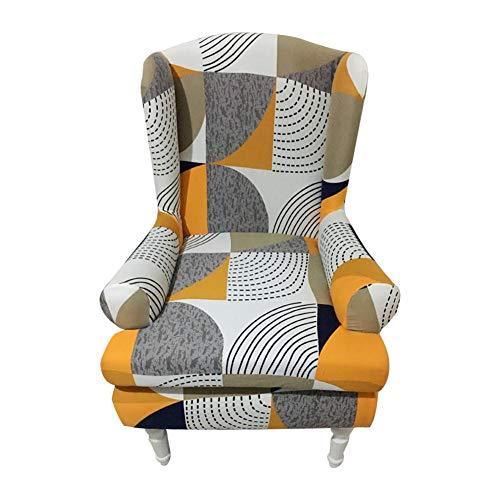 Banane - Funda para sillón o sillón, Funda elástica para sillón, diseño clásico, a Prueba de Polvo, Protector de Muebles para decoración del hogar, 2 Piezas portátiles