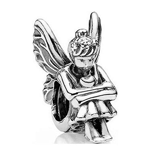 Gouden kleur Engel Van Liefde & Genade PETITE Kralen Fairy Pixie Charm Fit Pandora Armband 925 Sterling Zilver Bead Charm Sieraden