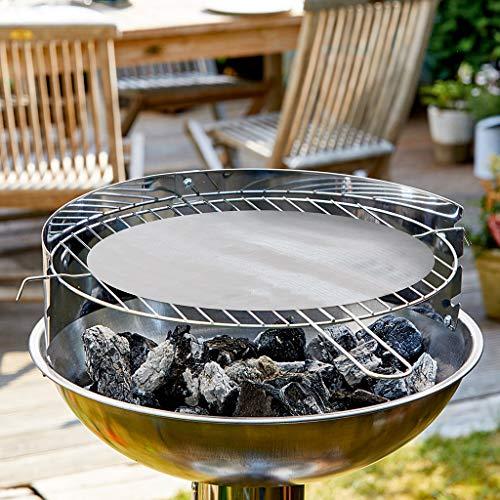 Durandal Grillfolie rund 48 cm – Wiederverwendbare BBQ Grillfolie für Gasgrill & Holzkohlegrills mit Antihaftbeschichtung – Ideal für Grill & Backofen
