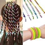 Sasairy Set de 12 piezas Accesorios de Peinado Espirales Rulo Accesorios de Cabello para Sujetar el Pelo Colorful Moños de Pelo para Chicas Muchacha