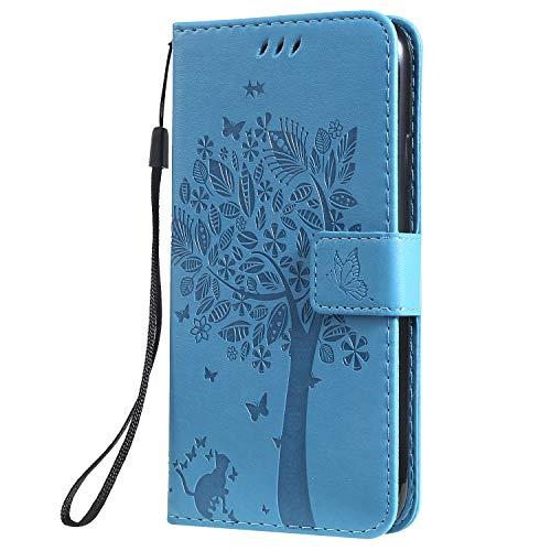 """Hülle für iPhone 11 (6,1"""") Hülle Leder,[Kartenfach & Standfunktion] Flip Case Lederhülle Schutzhülle für Apple iPhone 11 2019 - EYKT020058 Blau"""