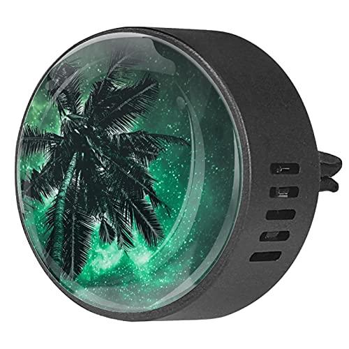 Difusor de coche para clips de ventilación de aceite esencial,árbol de coco ,2 paquetes de ambientadores de aromaterapia de 40 mm