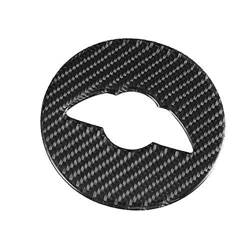 Ajuste de la decoración del volante, fibra de carbono Decoración del volante Ajuste de la decoración del emblema Ajuste para Mini Cooper F55 F56 F60
