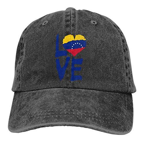 N/A Sombreros Sombrilla Al,Sombrero De Deporte,Ocio Sombrero,Dad Hat,Sombrero De Sol,Love Venezuela Denim Jeanet Gorra De Béisbol Ajustable Dad Hat