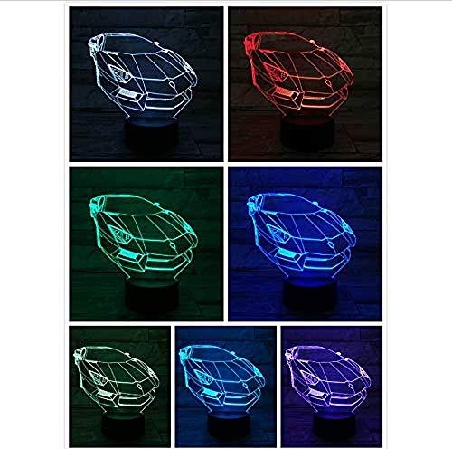 Optische illusie lamp nachtlicht sportwagen LED 3D-lamp verlichting hologram kinderen geschenk gadget bureau lamp slaapkamer decor acryl