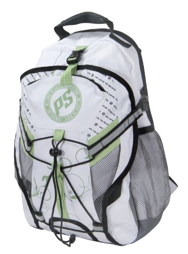 Powerslide Rucksack Fitness, weiß grau grün, 42x27x12, 900597