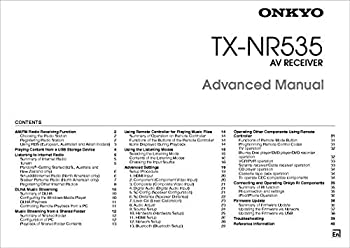 Onkyo Integra TX-NR535 Advanced Receiver Owners Instruction Manual Reprint [Plastic Comb]