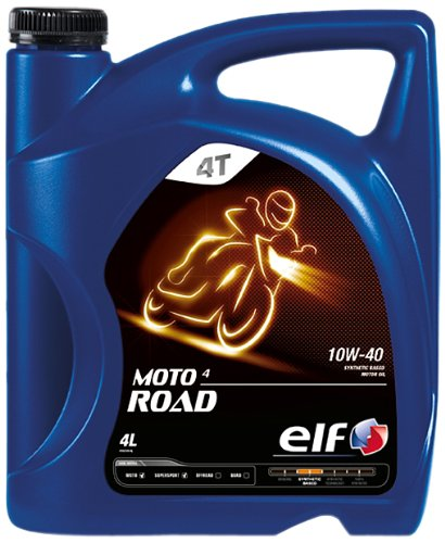 Elf Moto 4 Road 10W40 Aceite de motor turbodiésel, botella de 4 l