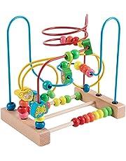 Jacootoys Peuters Eerste Kraal Doolhof Achtbaan Dier Cirkel Speelgoed Educatieve Abacus Kralen Spel Voor Jongens Meisjes Baby Cadeau