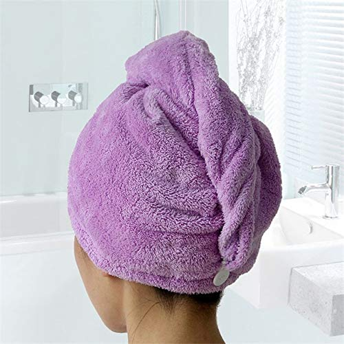 MAWA Toalla de baño para Mujer Toalla de Microfibra Toalla de Secado rápido para Adultos Toalla de baño - Morado, 25x65cm, a1