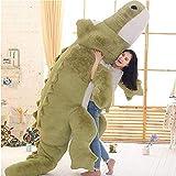 HYAKURIぬいぐるみ 特大 ワニ 可愛い熊 動物 大きい/巨大 ワニ/クマ抱き枕/お祝い/ふわふわぬいぐるみ (グリーン, 160cm)