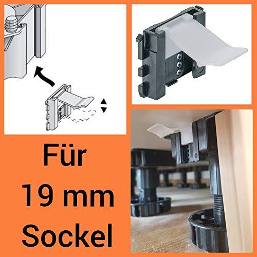 5 x Sockelhalterung 19 mm HÄFELE Küche Befestigung Sockelklammer Blendenhalter Sockelclip Befestigungsclip Sockelhalter Küche